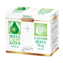 Béres Csepp Extra 4x30ml + C-vitamin 50mg 120x