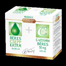 Béres Csepp Extra 4x30ml + C-vitamin 50mg 120x