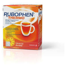 Rubophen Thermo 650mg/10mg citrom ízű forróital granulátum 12x