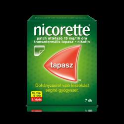 Nicorette patch áttetsző tapasz 15mg/16 óra tapasz 7x