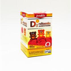Jutavit D3-vitamin málna ízű gumivitamin 60X
