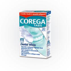 Corega Tabs Dental White fehérítő hatású műfogsortisztító tabletta 30x