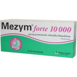 Mezym Forte 10.000 egység gyomornedv ellenálló filmtabletta 50x