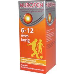 Nurofen szuszpenzió narancs 40mg/ml 100ml gyerek 6éves kortól