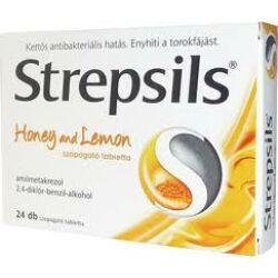 Strepsils Méz és Citrom ízű szopogató tabletta 24x