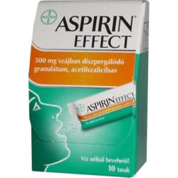 Aspirin Effect 500mg szájban diszpergálódó granulátum 10x
