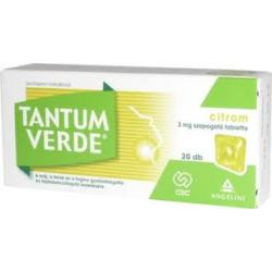 Tantum Verde citrom szopogató tabletta 20x
