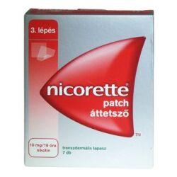 Nicorette patch áttetsző tapasz 10mg/16 óra tapasz 7x