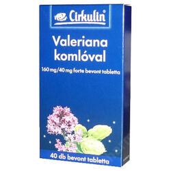 Cirkulin Valeriana komlóval 160mg/40mg forte bevont tabletta 40x