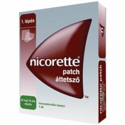 Nicorette patch áttetsző tapasz 25mg/16 óra tapasz 7x