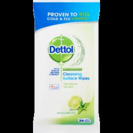 Dettol Antibakteriális Felülettiszító kendő Lime&Menta 36X