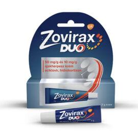 Zovirax Duo 50 mg/g és 10 mg/g ajakherpesz krém, 2 g