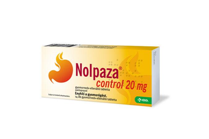 Nolpaza control 20mg gyomornedv-ellenálló tabletta 14x