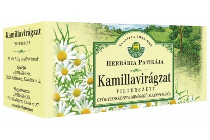 Kamillavirágzat filteres tea 25x1,2g