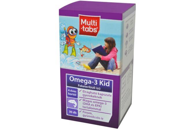 Multi-Tabs Kid Omega-3 feketeribizlis rágókapszula 30x