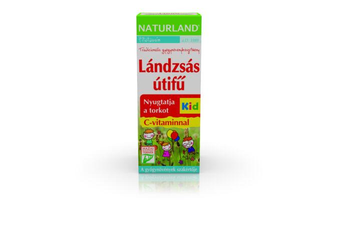 Naturland lándzsás utifű C-vitaminnal Kid szirup 150ml Lejár:2020.10.31