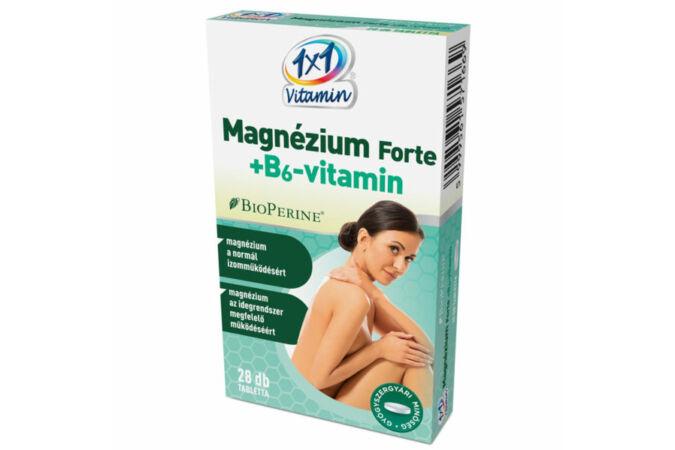 1X1 Vitamin Magnézium Forte +B6 vitamin BioPerinnel tabletta 28X Lejár:2020.09.13