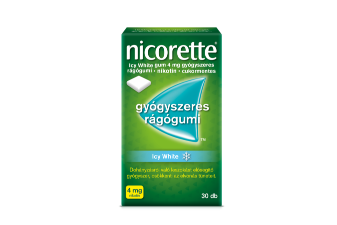 Nicorette Icy White gum 4mg gyógyszeres rágógumi 30x