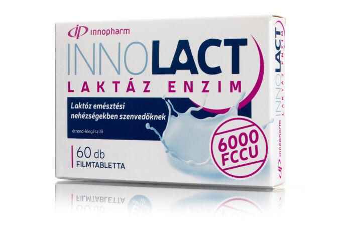 Innopharm InnoLact Lactáz Enzim 6000 FCCU filmtabletta 60X