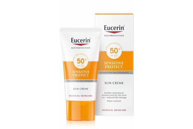 Eucerin Sun Sensitive Protect Napozó krém arcra FF50+ 50ml