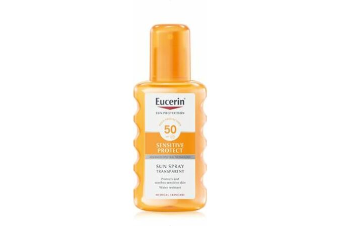 Eucerin Sun Sensitive Protect Színtelen napozó spray FF50 200ml