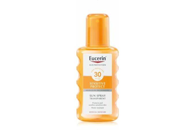 Eucerin Sun Sensitive Protect Színtelen napozó spray FF30 200ml
