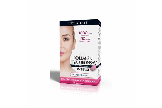 Interherb Kollagén & Hyaluronsav Intense tabletta 30X