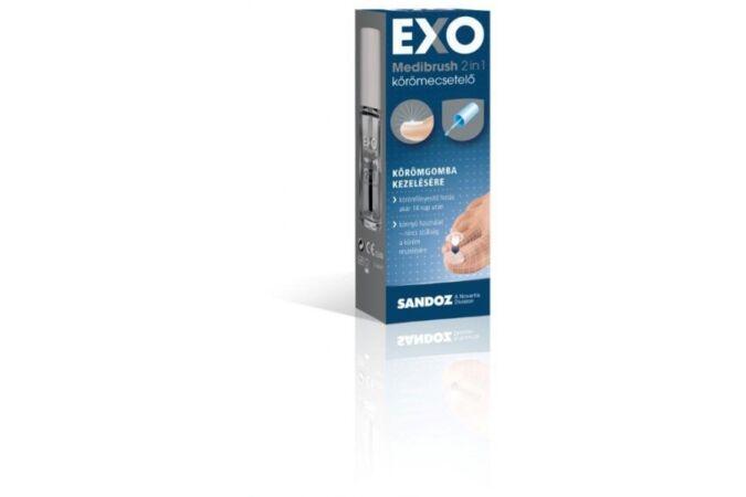 Exo Medibrush 2in1 ecsetelő körömgomba ellen 5 ml