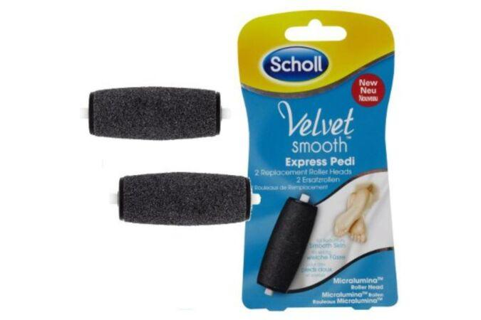 Scholl Velvet Smooth Extra érdességű forgófej gyémántkristályokkal, 2 db