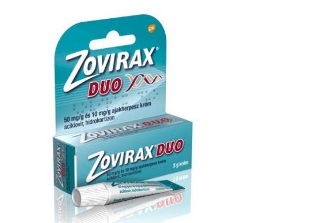 Zovirax Duo 50mg/g és 10mg/g krém 2g