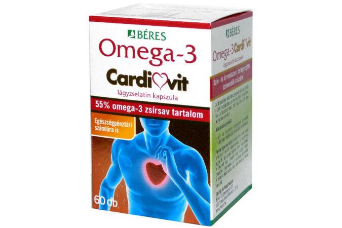 Béres Omega-3 Cardiovit lágyzselatin kapszula 60X Lejár:2020.10.31