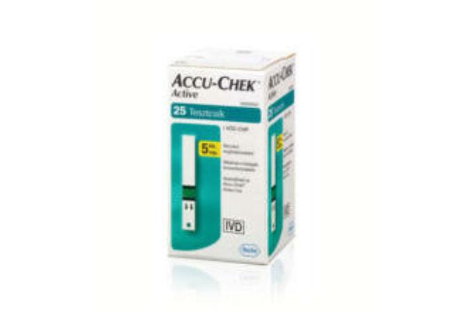 Accu-Chek Active Glucose vércukorszintmérő csík 25x
