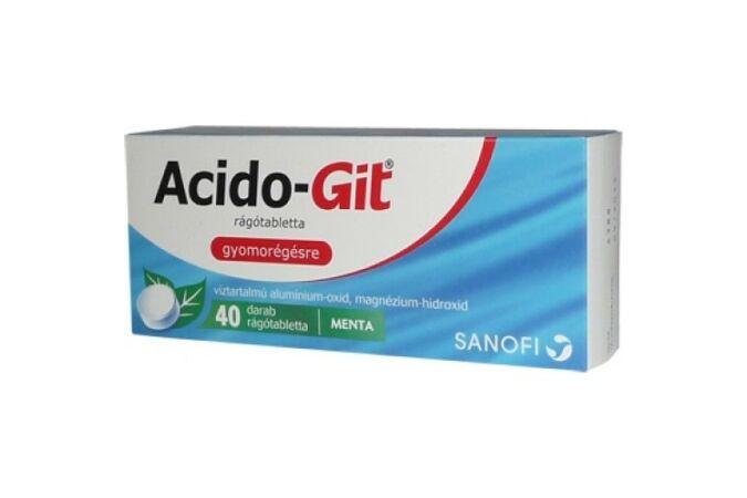 Acido-Git rágótabletta 40x