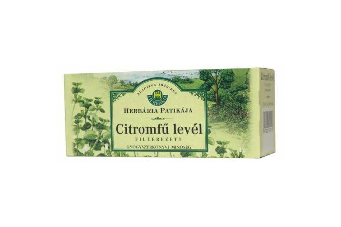 Herbária Orvosi Citromfűlevél filteres tea 25x