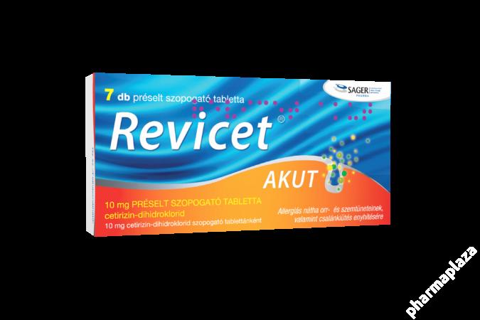 Revicet Akut 10mg préselt szopogató tabletta 7X